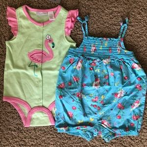 First Impressions One Pieces - 2 Adorable Infant Rompers